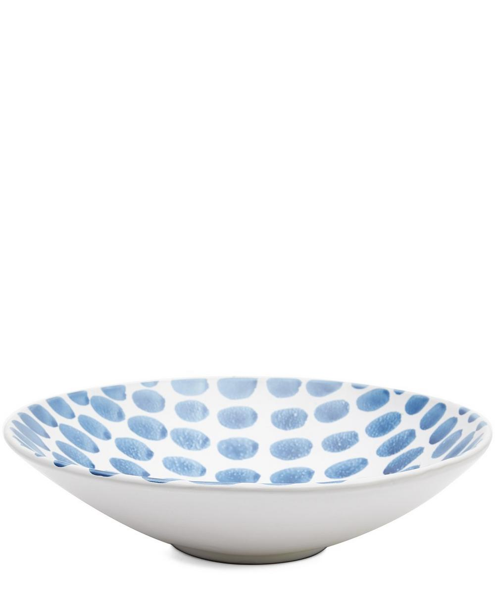 Blue Fresco Small Dots Serving Bowl