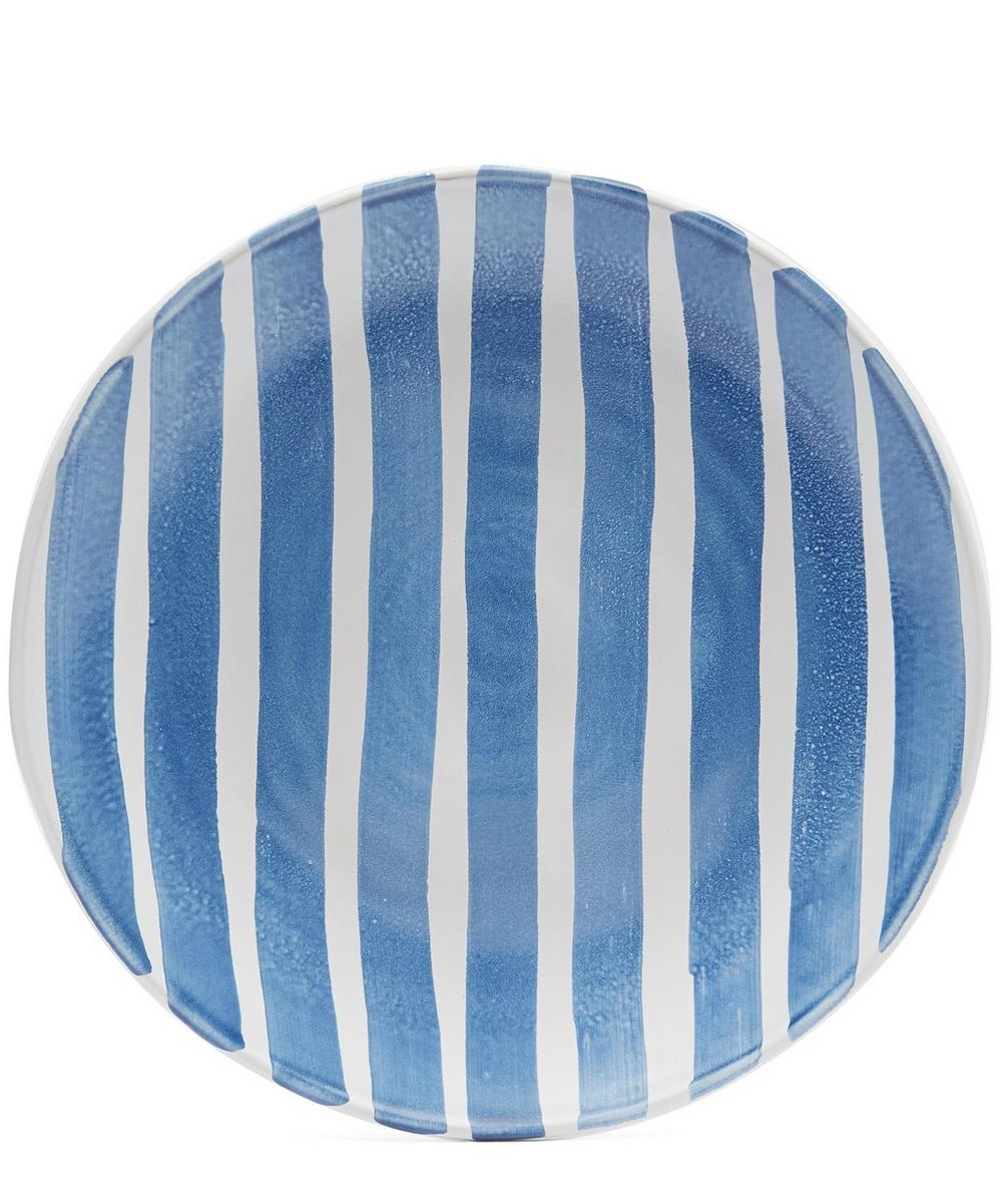 Blue Fresco Large Striped Platter