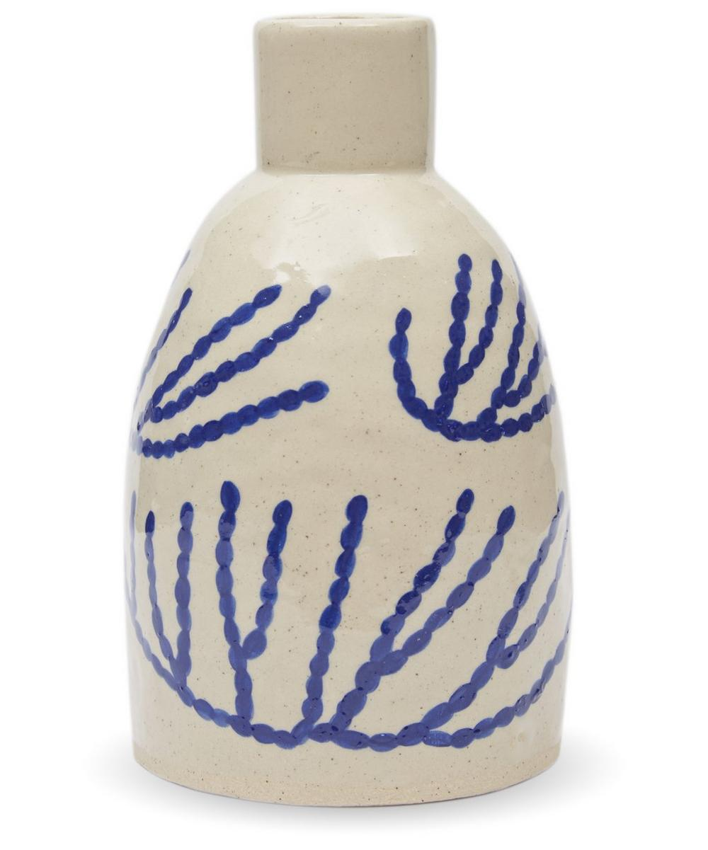 Slim Bottle Vase With Coral Motif