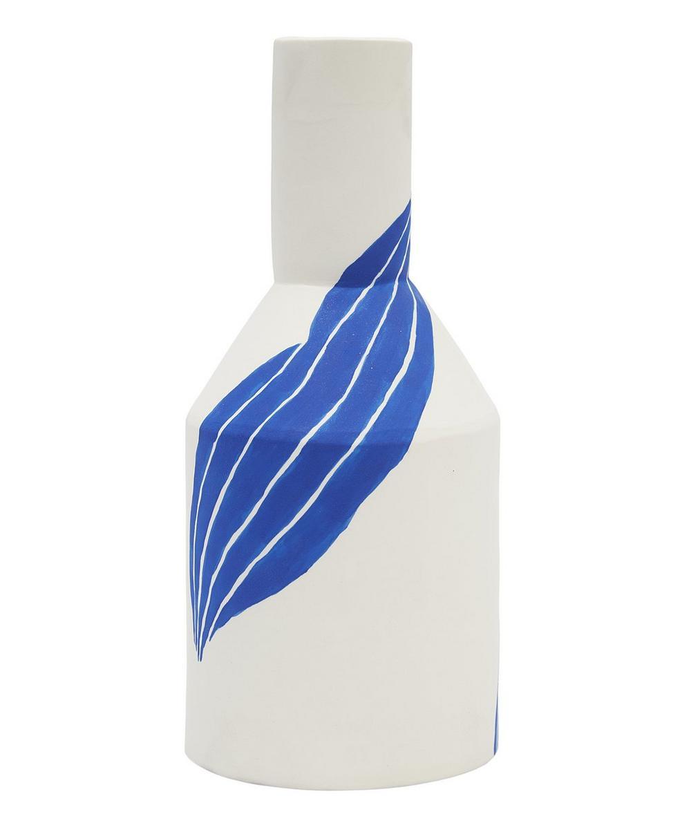 Large Bottle Vase With Leaf Motif