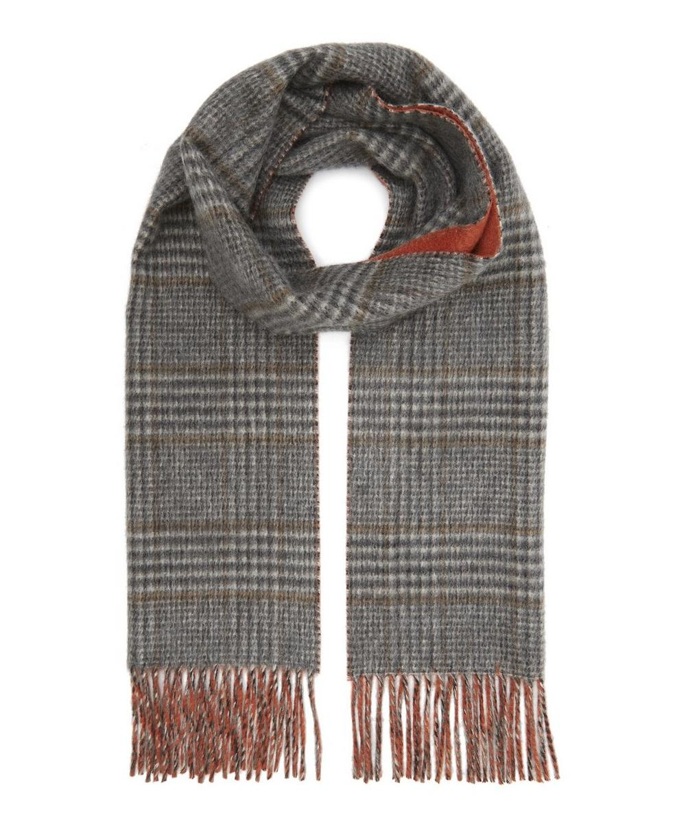 Cashmere Reversible Check Scarf
