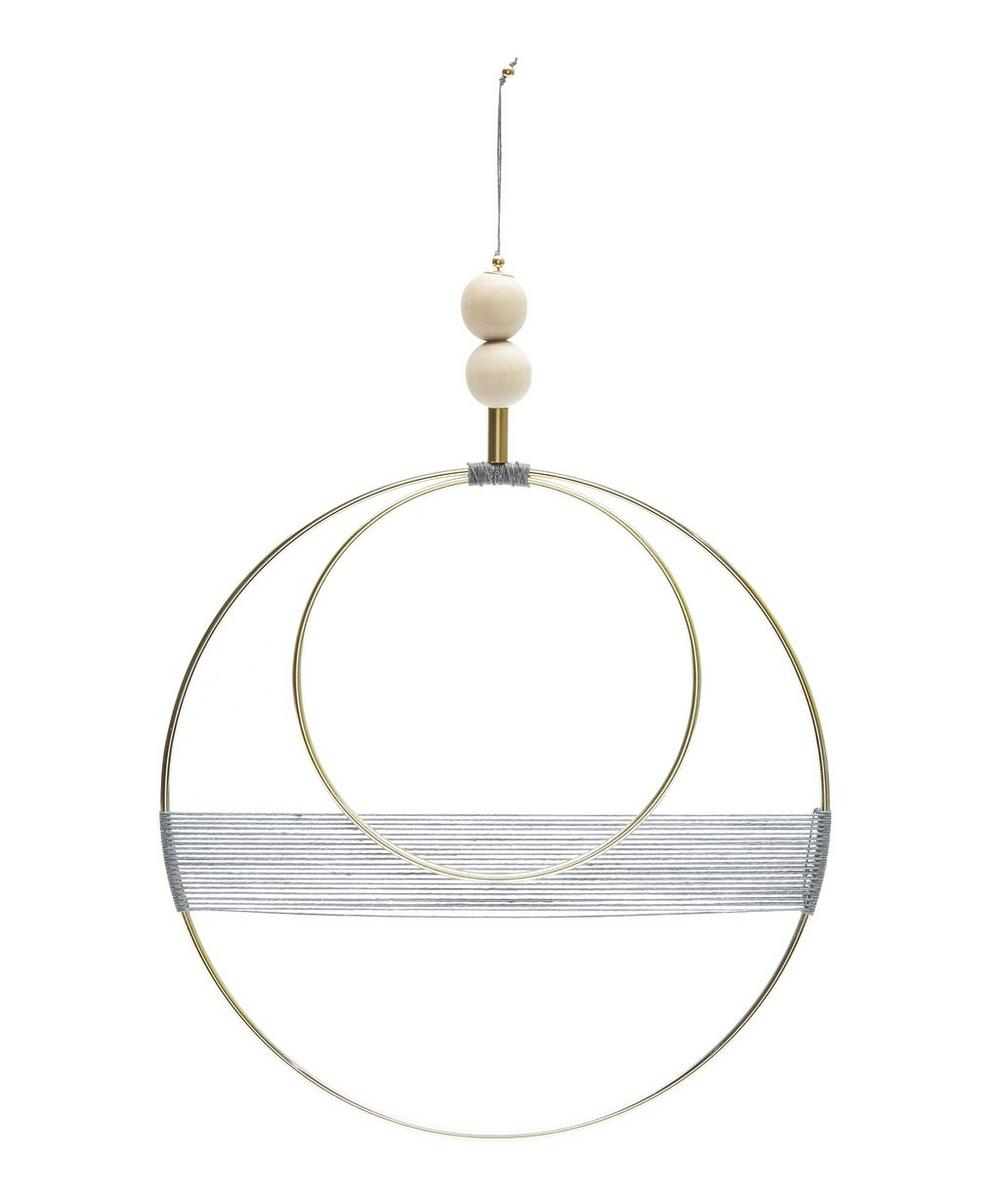 Double Circle Geometric Wall Hanging