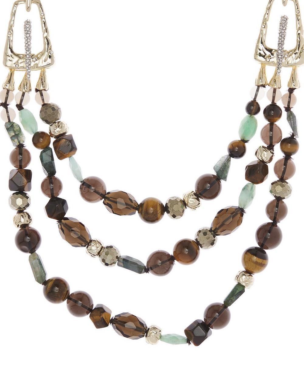 Three Layer Multi-Bead Necklace
