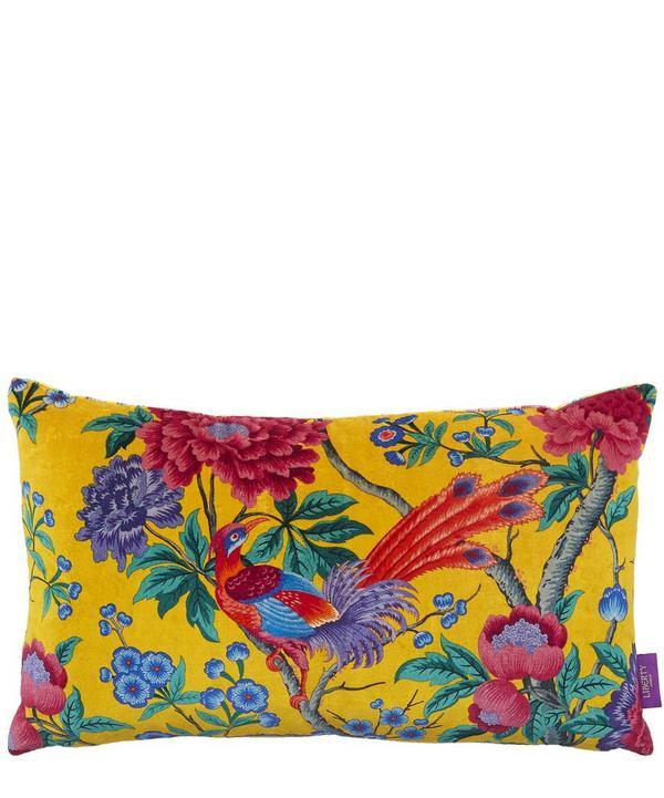 Elysian Paradise Velvet Bolster Cushion