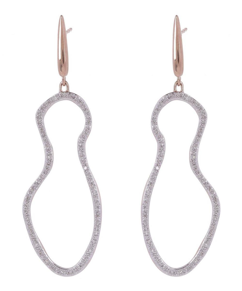 Rose Gold-Plated Riva Pod Drop Cocktail Earrings