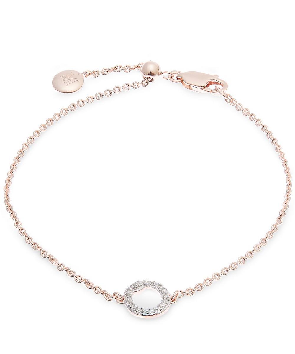 Rose Gold-Plated Riva Mini Diamond Circle Bracelet