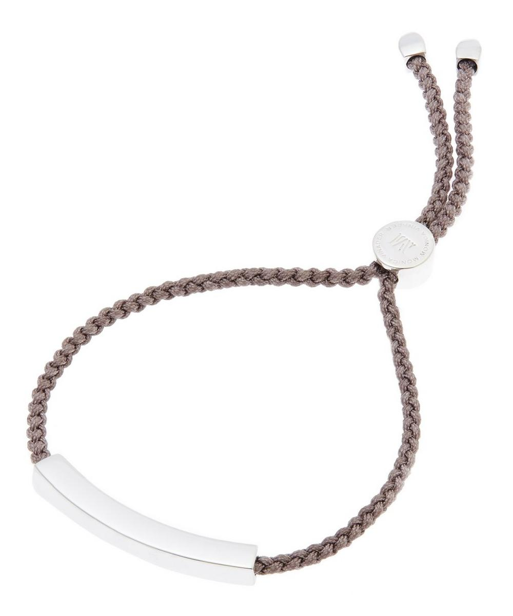 Silver Mink Cord Linear Friendship Bracelet