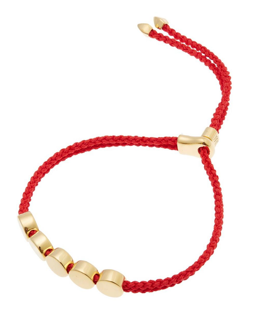 Monica Vinader Gold-Plated Linear Bead Friendship Bracelet