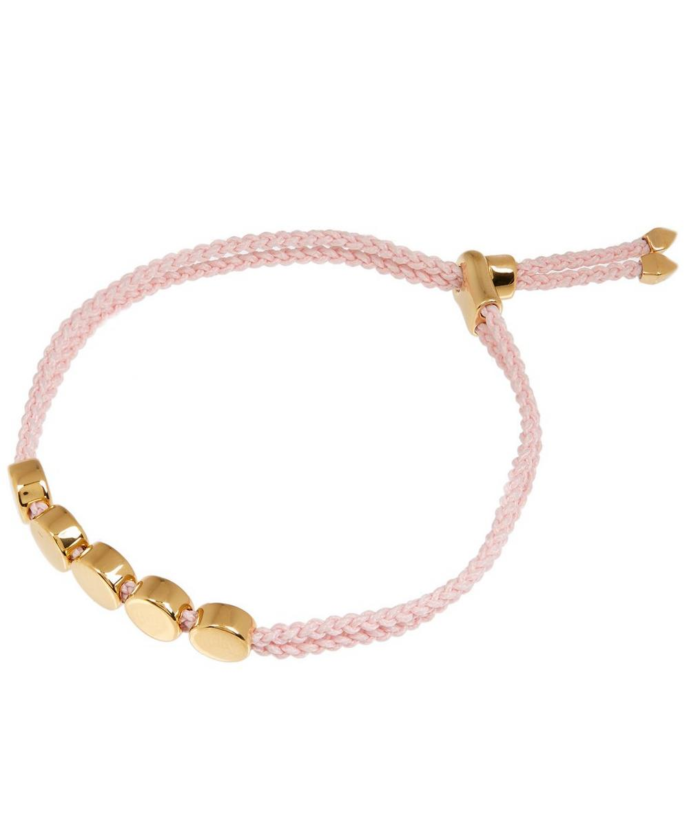 Gold-Plated Ballet Cord Linear Bead Friendship Bracelet