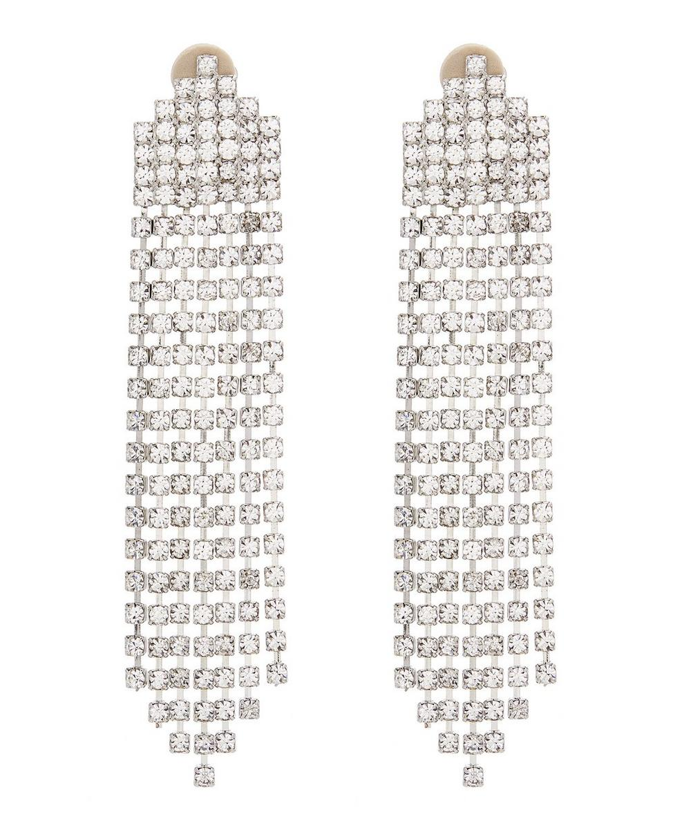 Cascading Swarovski Crystal Clip-On Earrings