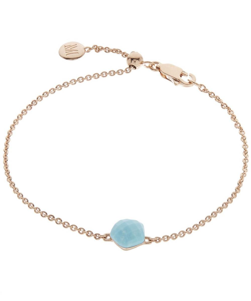 Rose Gold-Plated Nura Mini Turquoise Nugget Bracelet