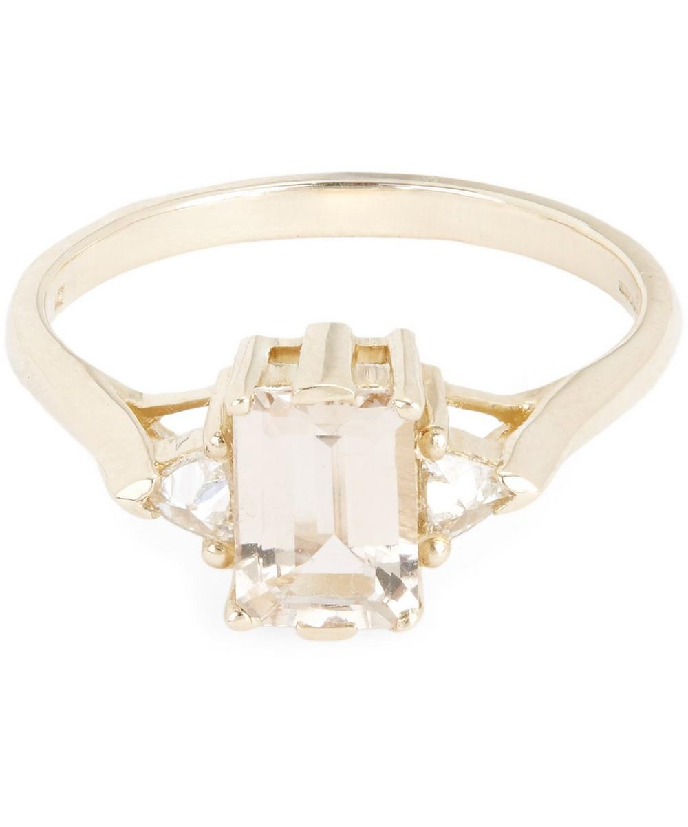 Gold Bea Morganite Three Stone Ring