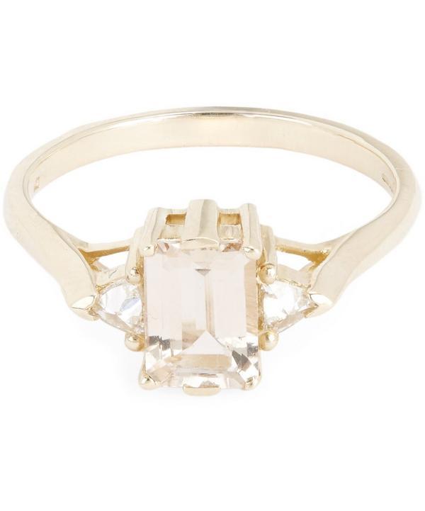 Gold Bea Morganite Three Stone Ring
