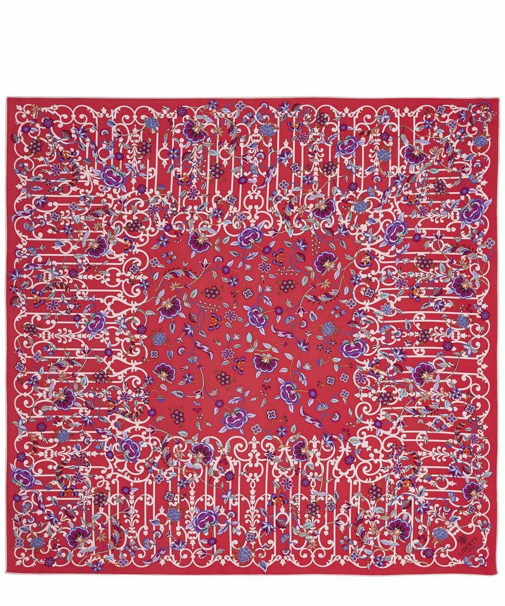 Garden Gates 90 x 90cm Silk Twill Foulard Scarf