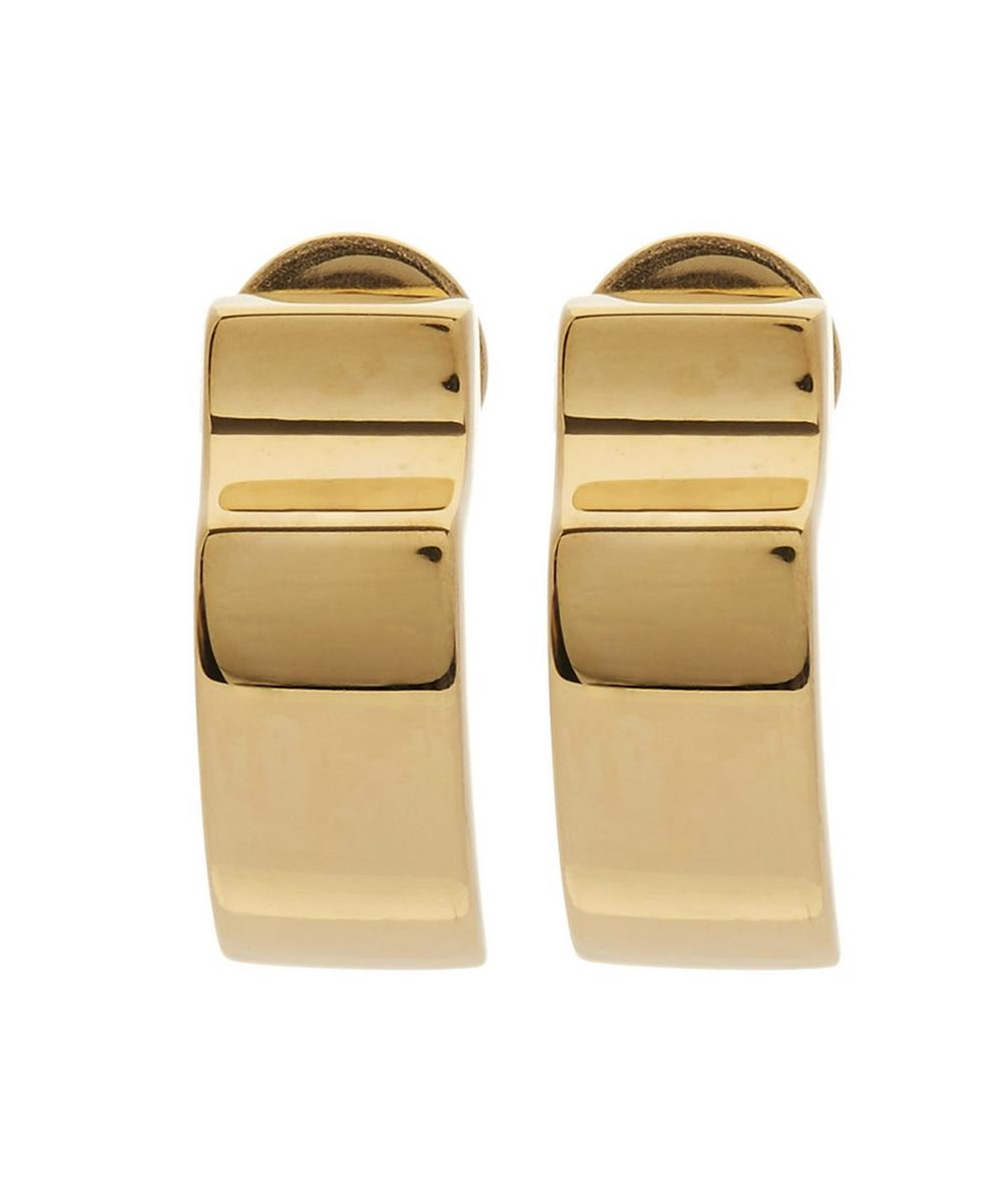 Gold-Plated Signature Wide Earrings