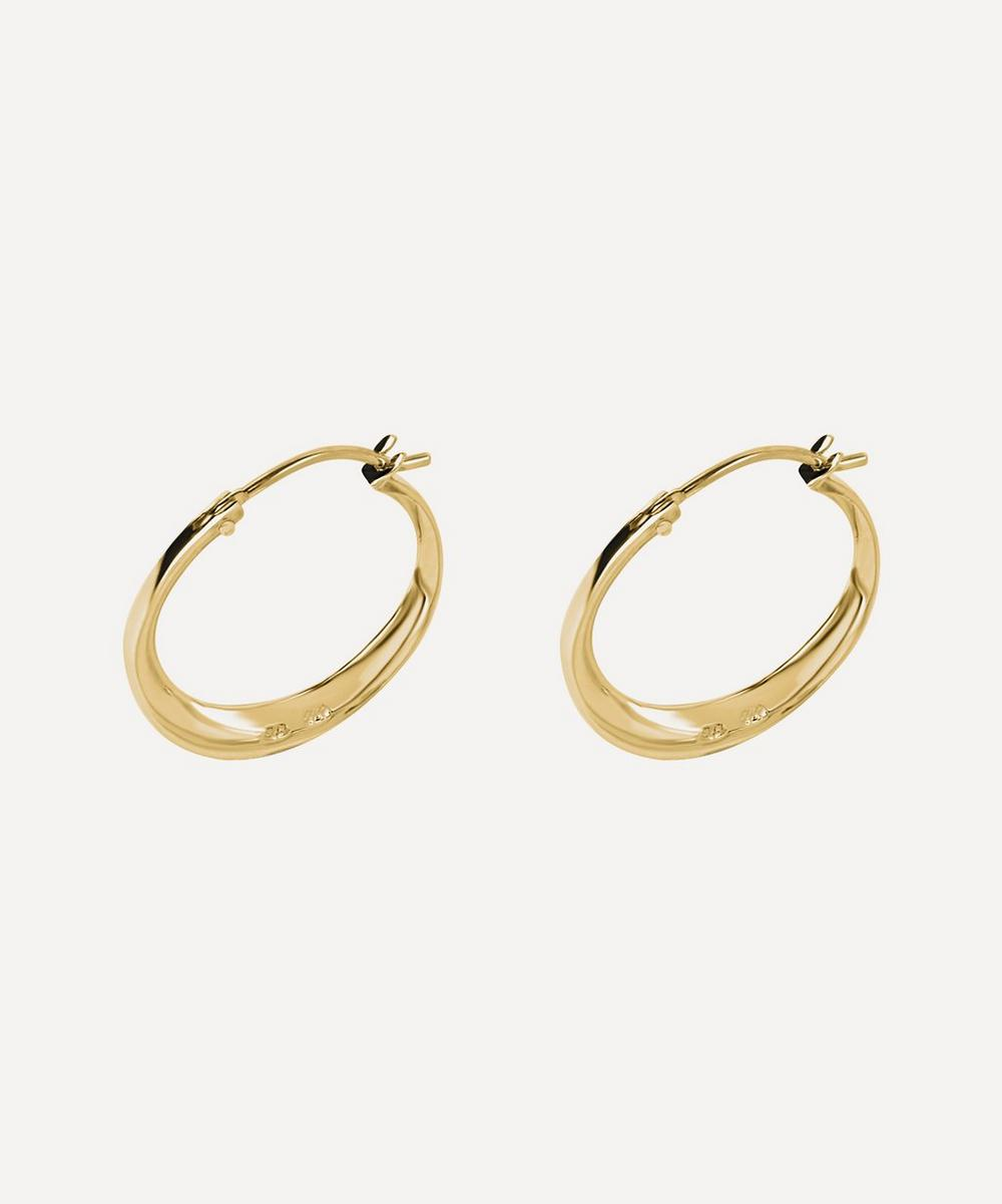 Gold-Plated Signature Small Tapering Click Hoop Earrings