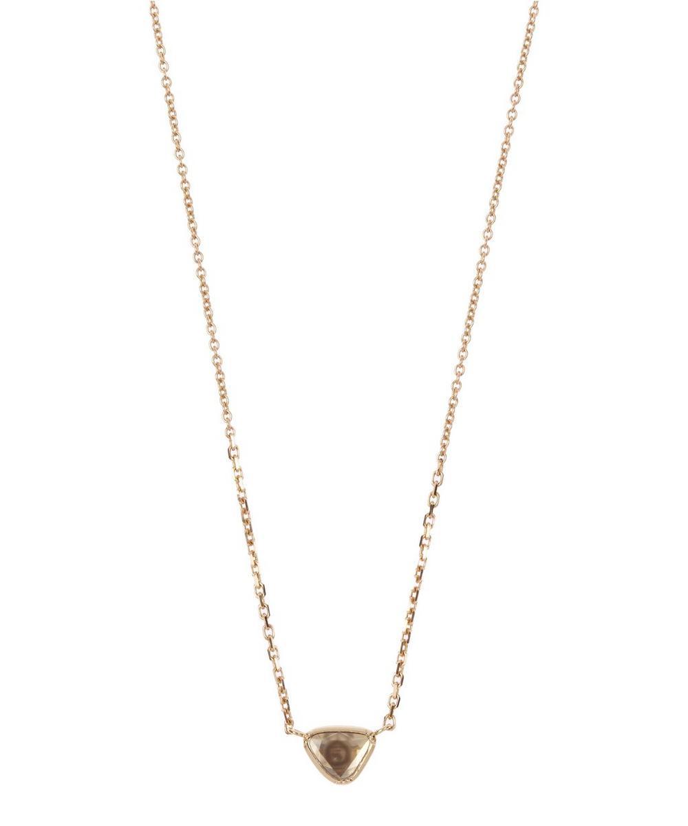 Diamond Slice Teardrop Necklace