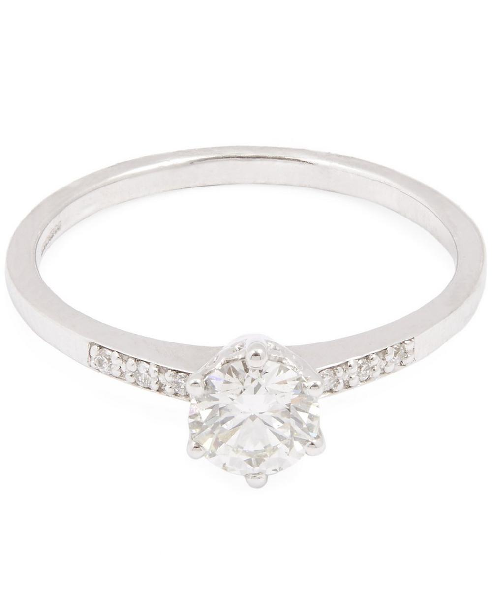 White Gold White Diamond Hazeline Ring