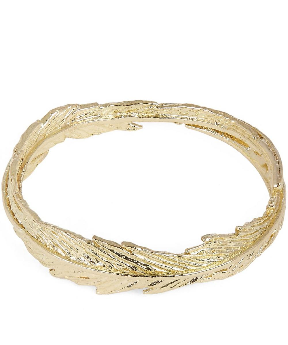 Gold Slim Plume Wreath Ring