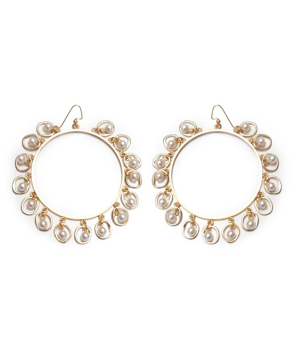 Gold-Plated Half-Shell Earrings