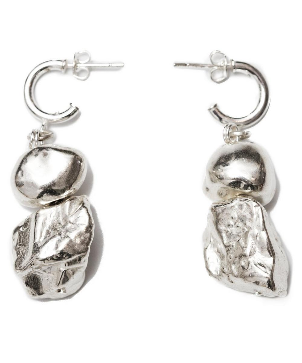 Rhodium-Plated Magic Mountains Earrings