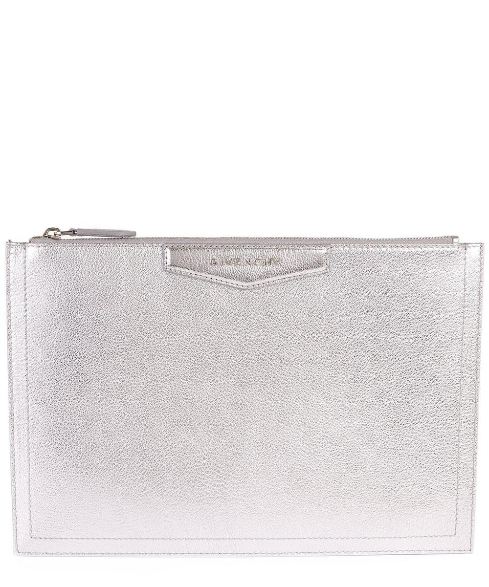 Antigona Metallic Leather Pouch