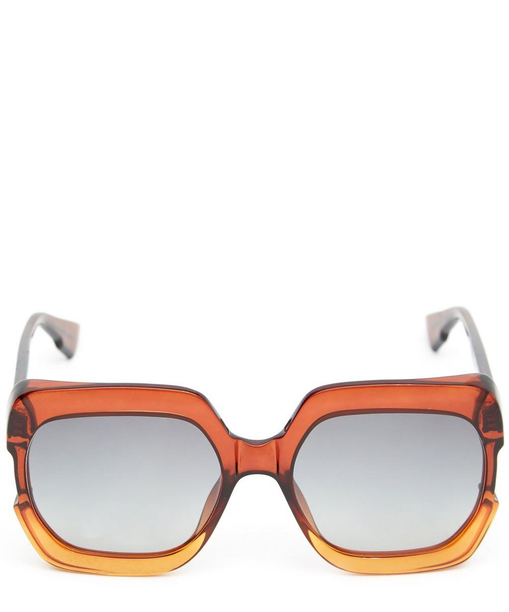 Diorgaia Square Acetate Sunglasses