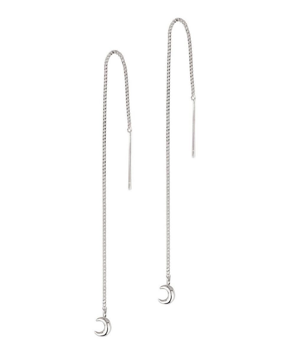 Silver Bijou Moon Chain Drop Earrings
