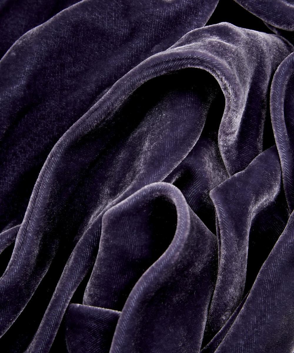 Deep Purple Skinny Velvet Scarf