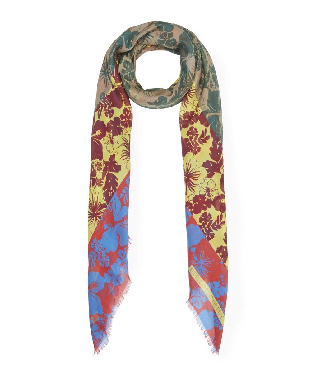 Block Jungle Print Silk-Blend Scarf