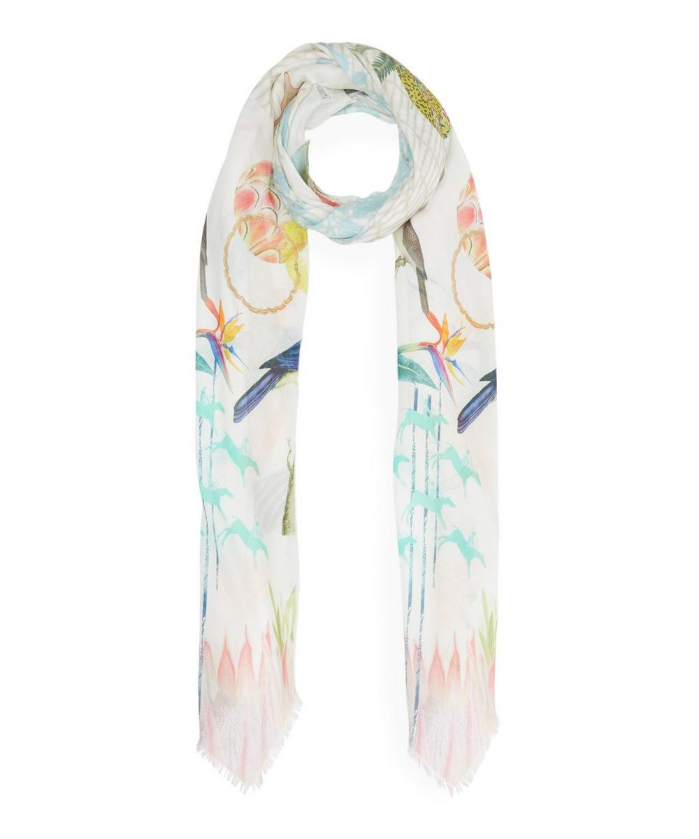 Large Lucia Silk-Blend Scarf