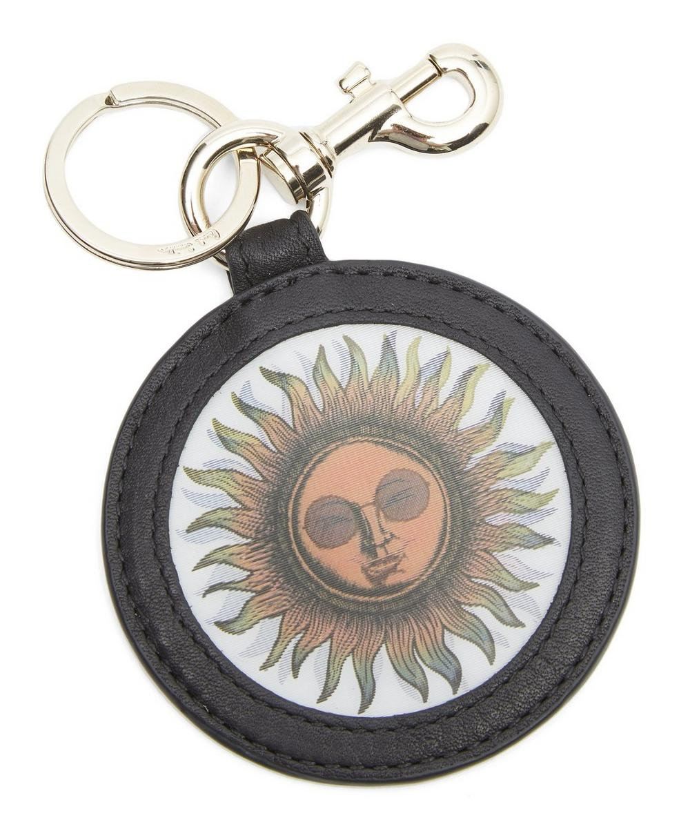 Holographic Sun Leather Keyring