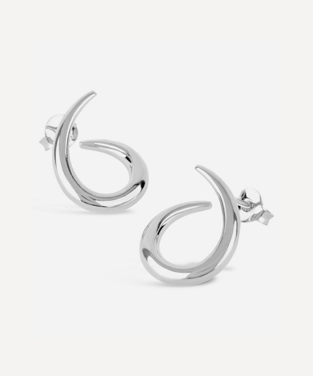 Silver Toro Medium Twist Earrings