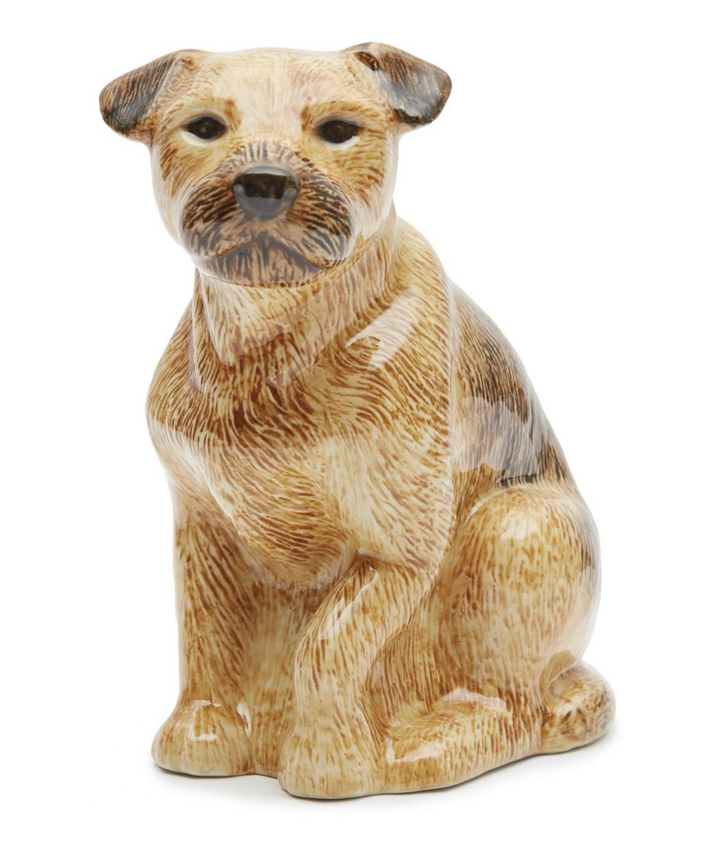 Large Border Terrier Vase
