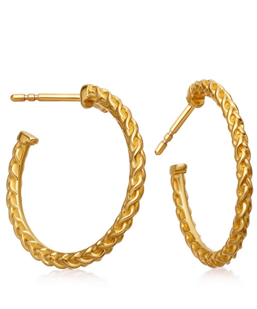 Gold-Plated Medium Spiga Hoop Earrings