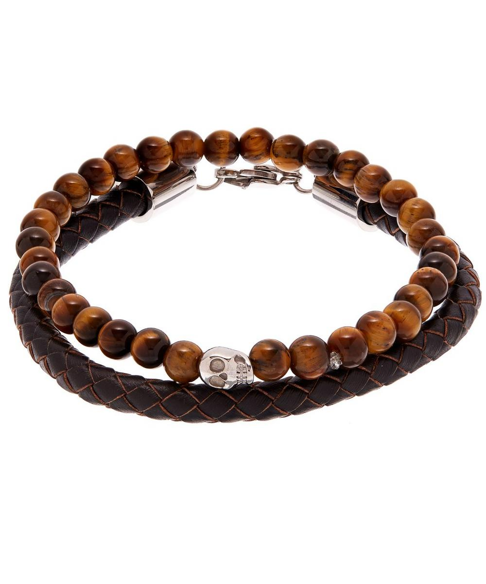 Skull Tiger's Eye Bracelet Set