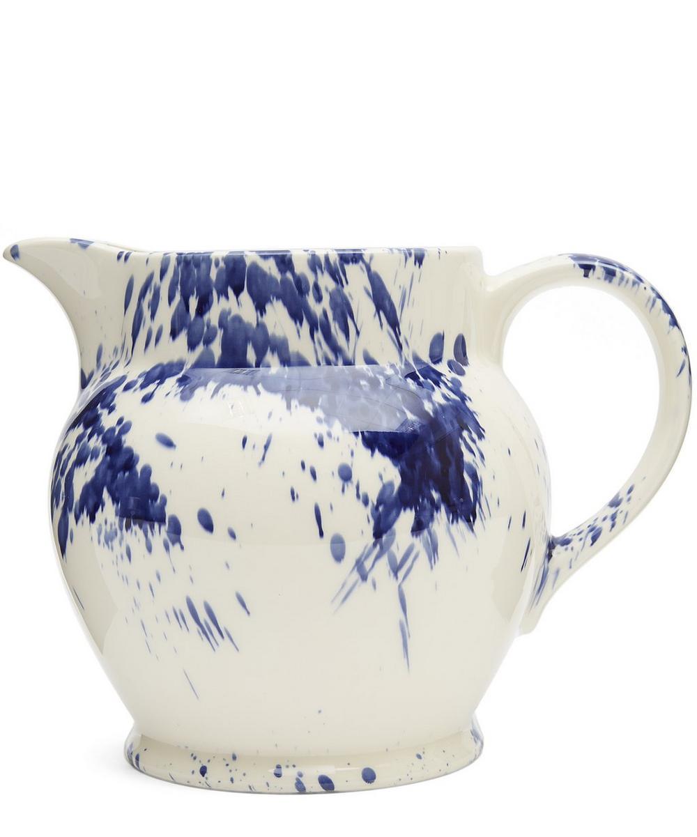 Blue Splatter Three Pint Jug