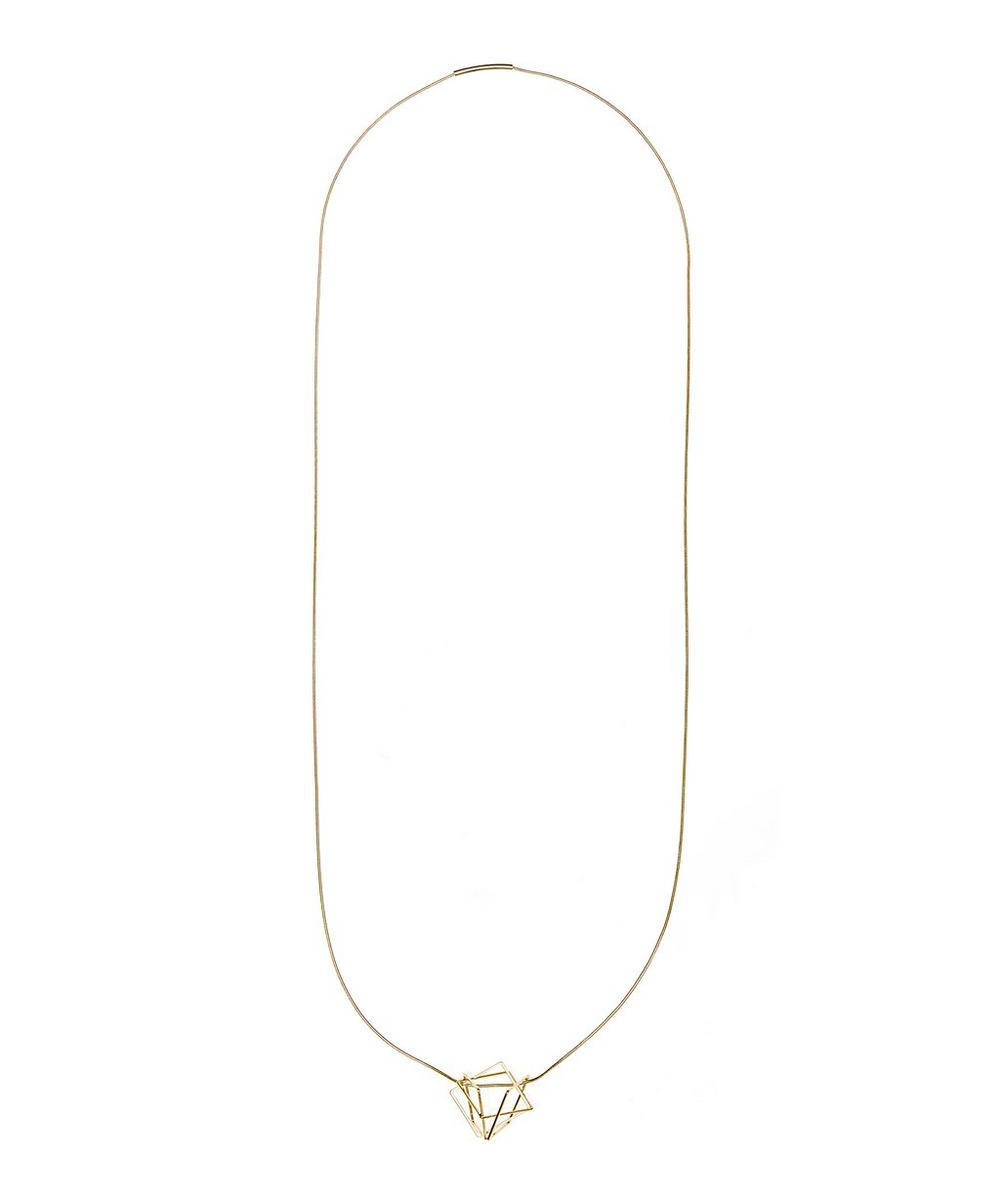 Suzette Spatial Cube Necklace