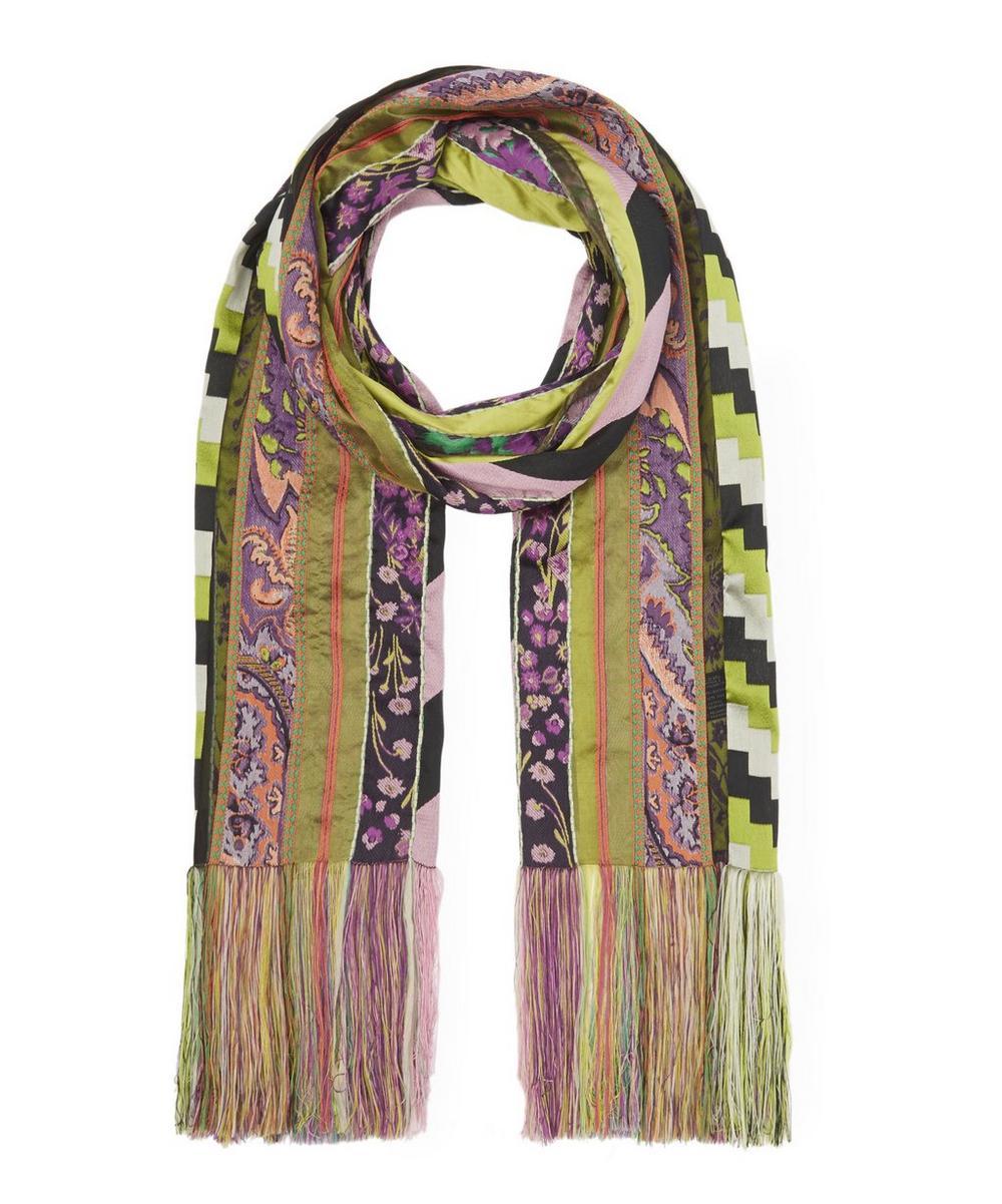 Jacquard Stripe Quilt Scarf