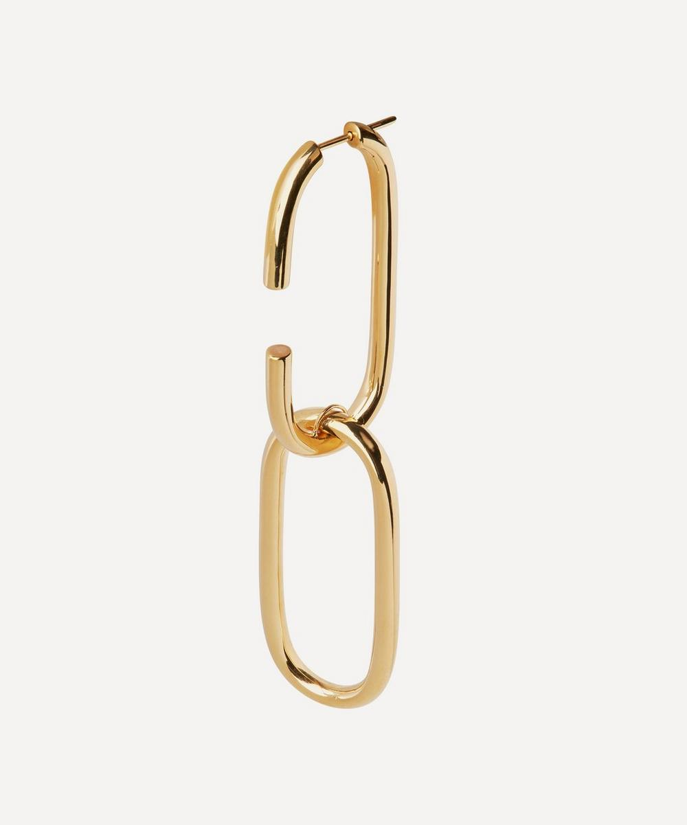 Gold-Plated Oval Link Earring