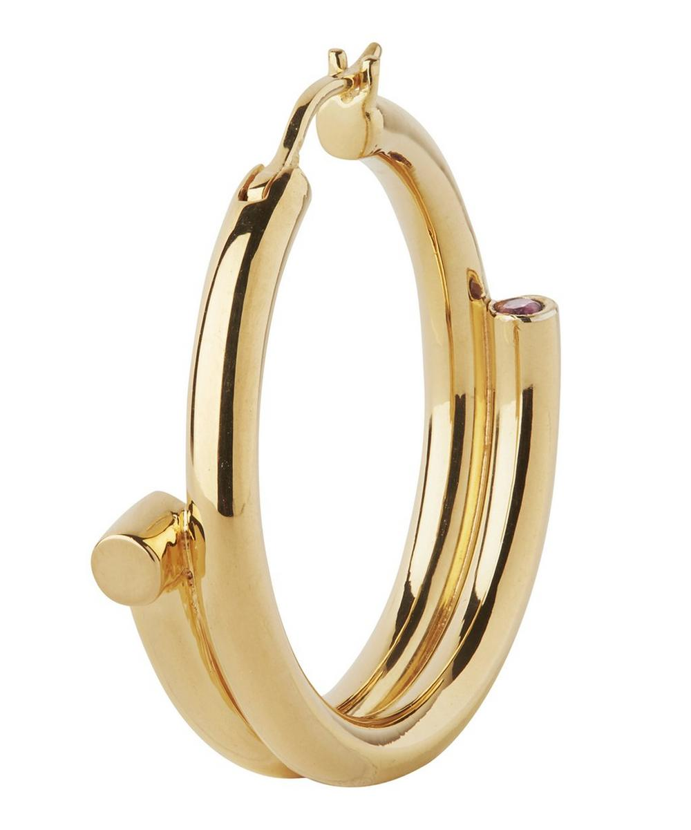 Gold-Plated Genie Right Hoop Earring