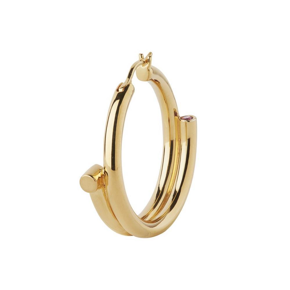 Gold-Plated Genie Left Hoop Earring