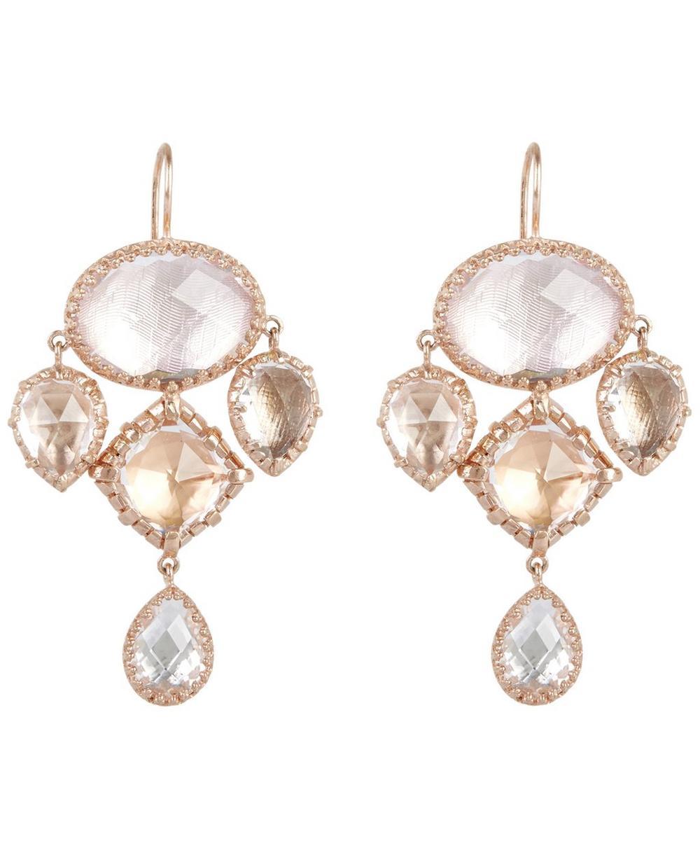 Rose Gold Sadie Girandole Drop Earrings