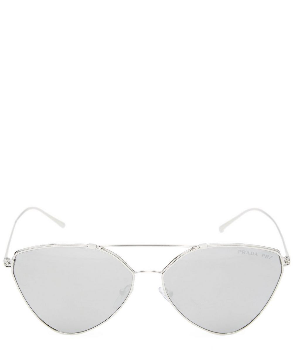 Eyewear Collection Cat-Eye Aviator Mirrored Lens Sunglasses