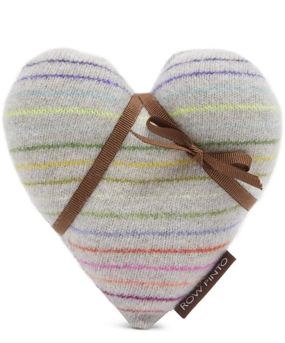 Spinning Top Knitted Cashmere Liberty Print Lavender Heart Set