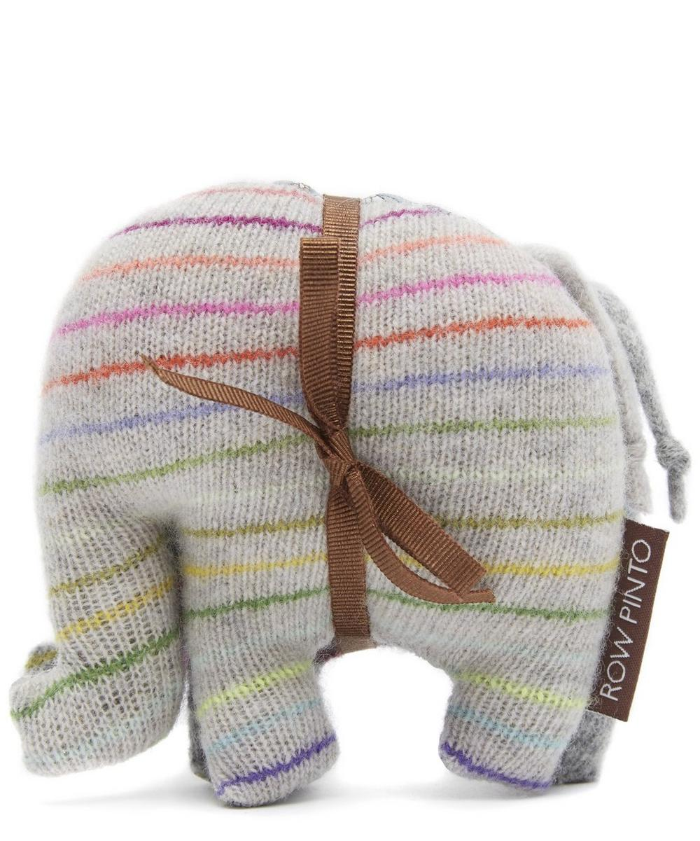 Spinning Top Knitted Cashmere Liberty Print Lavender Elephant Set