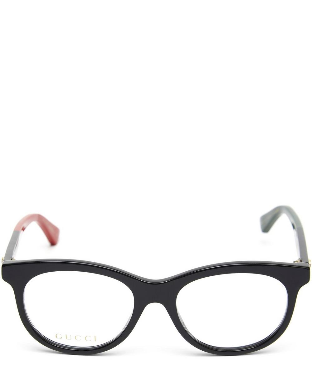 Chunky Frame Contrast Tip Optical Glasses