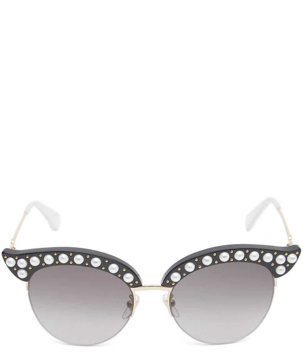 Pearl Cat-Eye Sunglasses