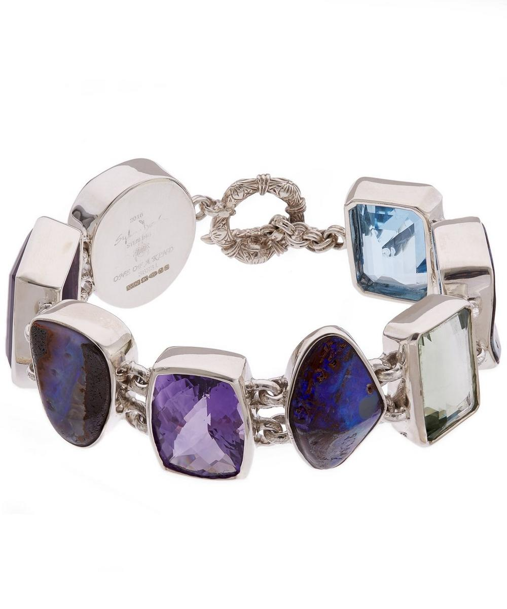 Silver Boulder Opal Multi-Stone Bracelet