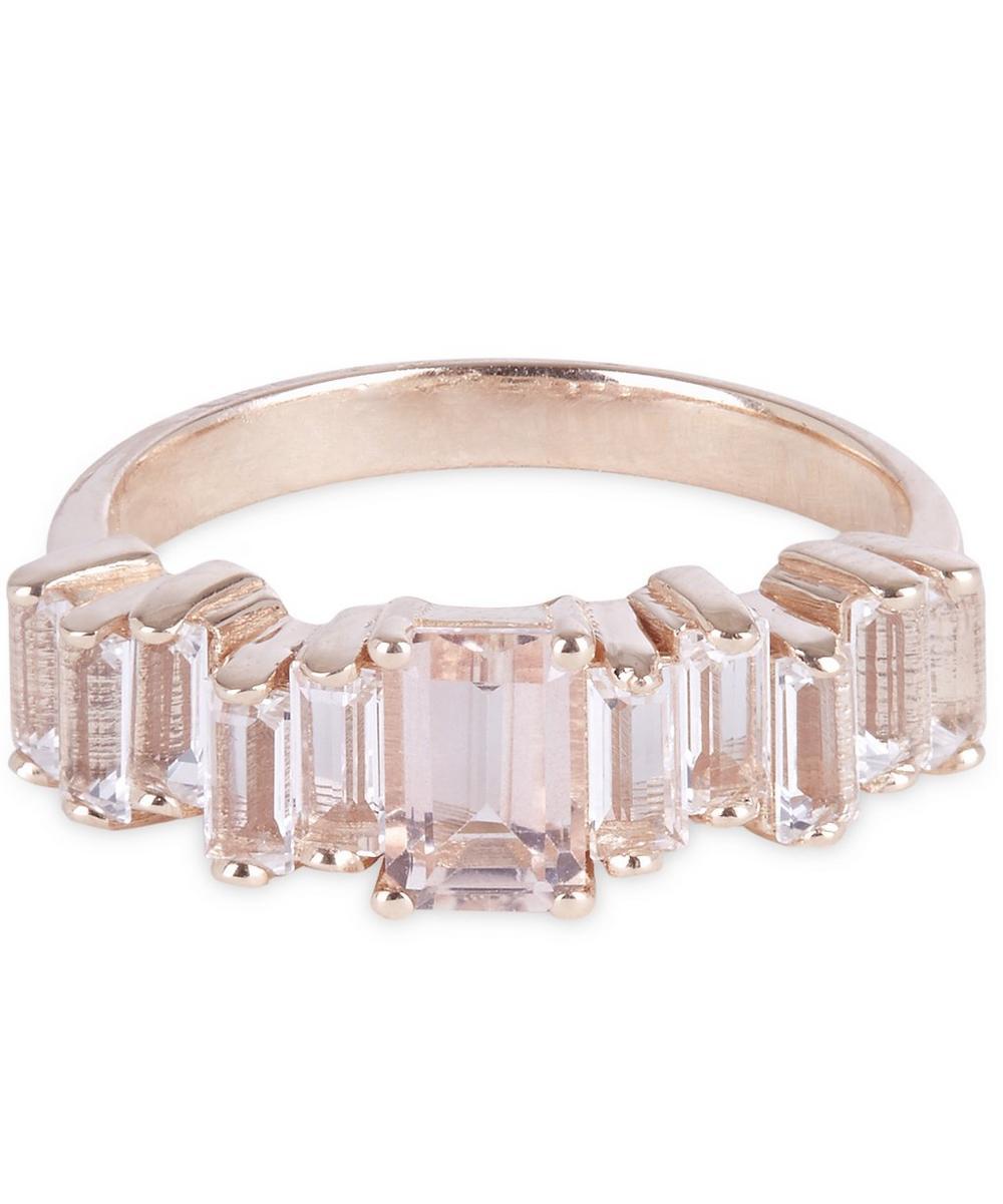Rose Gold Morganite Topaz Ring